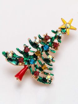 Red-Green Alloy Sweet Brooches & Lapel Pins