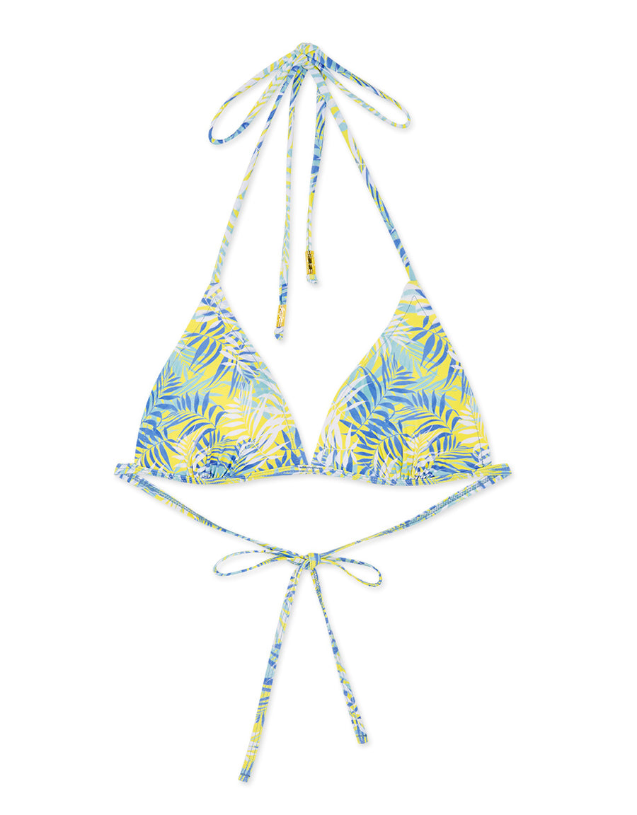 Printed Single Tie Strap Bikini Swimwear Top