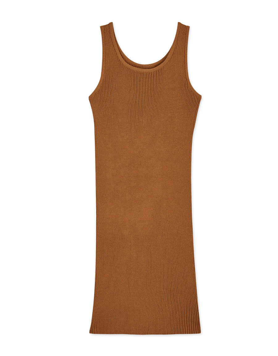 Versatile Bodycon Ribbed Mini Tank Dress