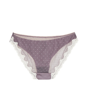 Dual Tone Ice Silk and Mesh Cheeky Panty