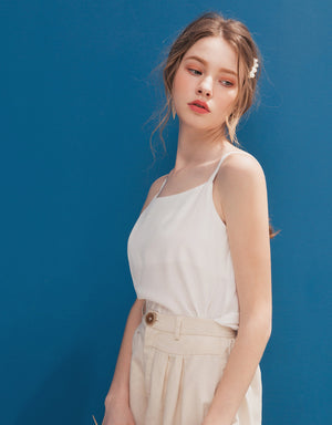 Minimalist Textured  Back Button Top