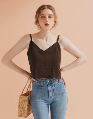 Thin Strap V Neck Camisole