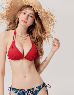 3 Way Double Straps Bikini Swimwear Top