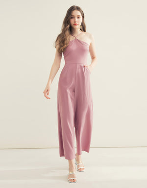 Metal Halter Jumpsuit