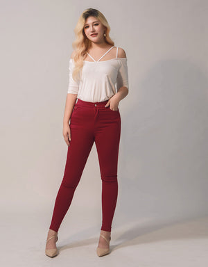 Multicolor Stretch Skinny Pants