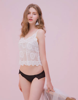 Lace Splice Comfy Brief Panty