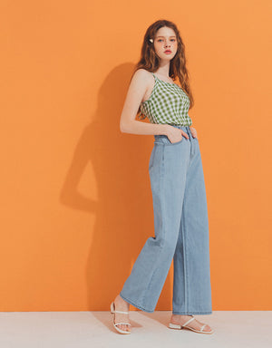 Casual Denim Wide Leg Pants