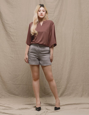 Silk Notch Top