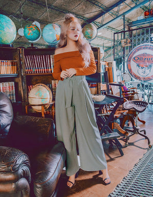 Check Textured Wide-Leg Pants