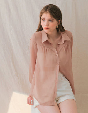 Transparent Chiffon Blouse