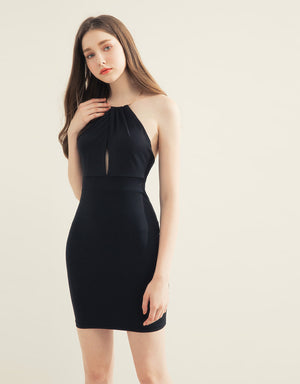 Metal Ring Halter Dress