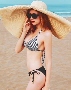 (L, XL, 2L) Printed Front Twist Bikini Swimwear Top