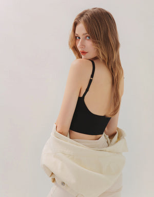 Big U-Back Low Cut Widened Hem Bralette
