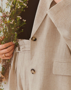 Linen Pocket Suit Jacket