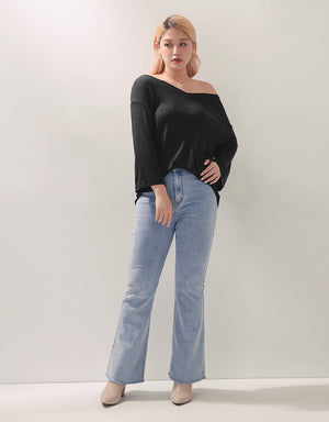 3Way Twisted Long Sleeve Loose Top