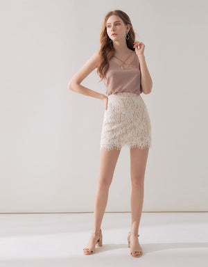 Romantic Lace Fit Skirt