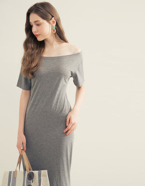 Twisted Hollow Cotton Fit Dress