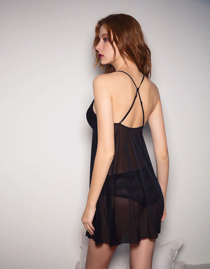 Cross Back Mesh Slip
