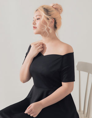 Off Shoulder Sweet Heart Neckline Dress