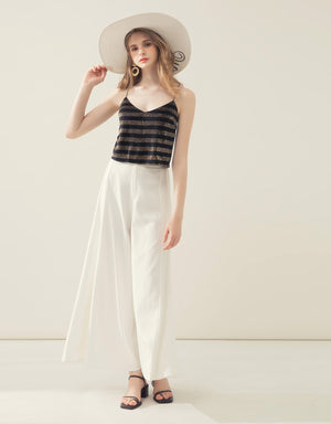 Cross Back Striped Camisole