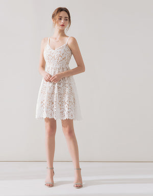 ROMANTIC STRAPPY LACE DRESS