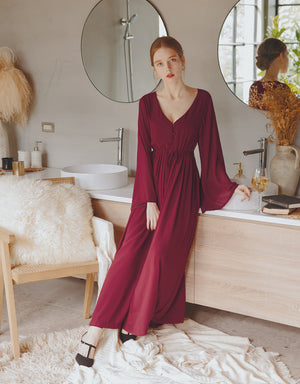 Bare Back Transparent Long Sleeve Chiffon Jumpsuit