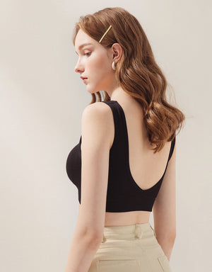 Classic Seamless Low Back Bralette (with Detachable padding)