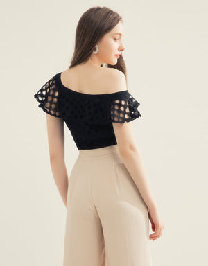 One Shoulder Hole Top