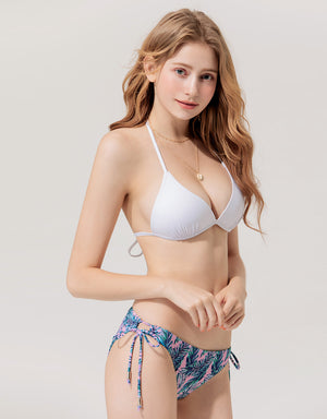 Plain Single Tie Strap Bikini Swimwear Top