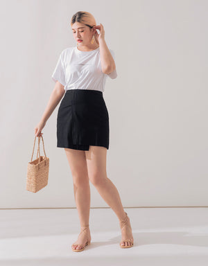 Asymmetrical Plain Skirt
