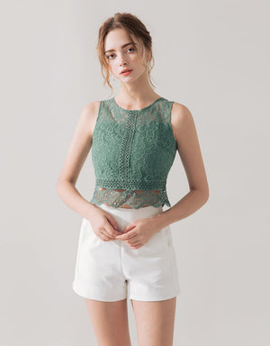 LACE JACQUARD TOP