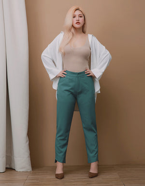 Minimalist High-rise Straight Cut Pants