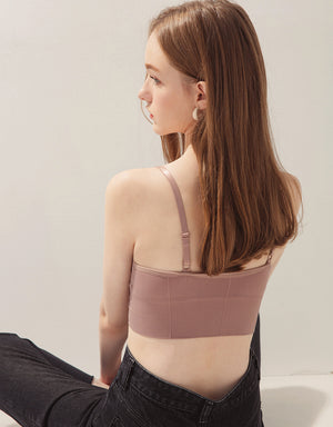Comfy Double Strap U-Neck Bralette (with Detachable Padding)