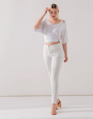 PLAIN COOLING STRETCH JEGGINGS