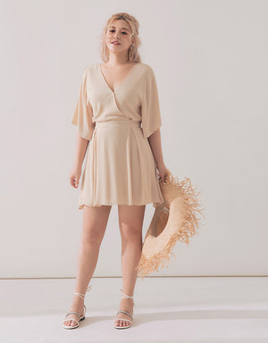 Crossover V Neck Dress