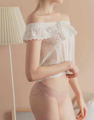 OVERLAY BRODERIE LACE BRIEF PANTY