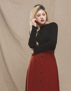 Turtleneck Long Sleeve Knit Top