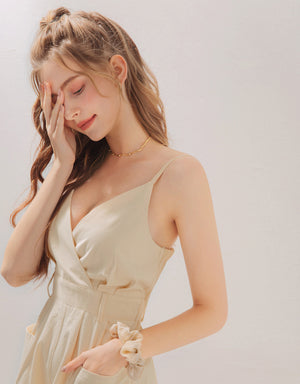 Thin Straps Low Cut V Neck Playsuit