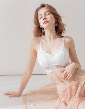 Overlay Lace Bralette with detachable padding