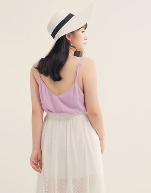 Scallop Neck V Back Camisole
