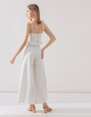 Strapped Cami Flare Pants Set Wear