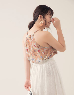 Floral Print Chiffon Camisole
