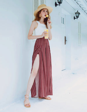 Sexy Slitted Flare Pants