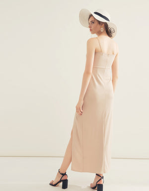 Elegant Hollow Split  Evening Dress