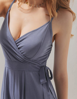 Thin Straps Low Cut V-Neck Playsuit