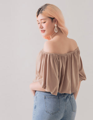 Off Shoulder Stretch Waist Top