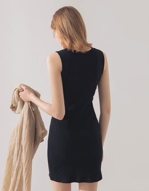 Round Neck Knitted Bodycon Dress