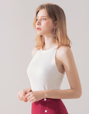 Hollow Back Knitted Top