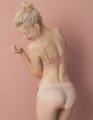Ice Silk Lace String Brief Panty