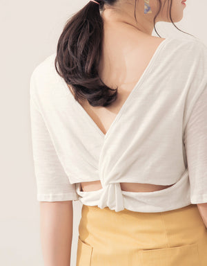 Twisted Back Cotton Top